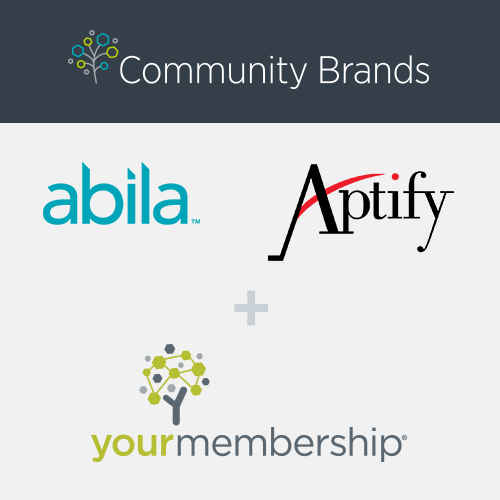 Besides an amalgamation of Abila, Aptify, and YourMembership, what is Community Brands?