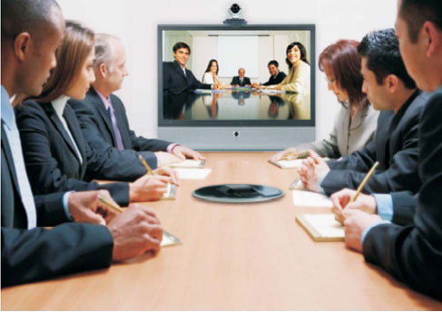 A well-equipped conference room makes on-the-spot collaboration easy and readily available.